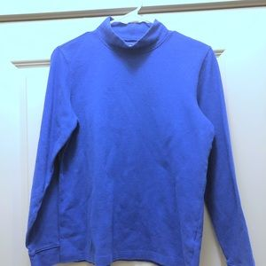 Sweaters - LL Bean Blue Turtleneck Pullover SZ Med Good Cond